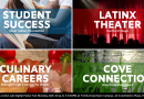 Invitation to 4/29 Action Lab Digital Poster Fair: Culinary Careers, Latinx Theater, Student Success, Cove Connection